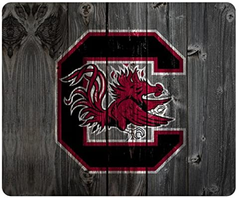 South Carolina Gamecocks wood background style mousepad, square mousepad Customized by the micase