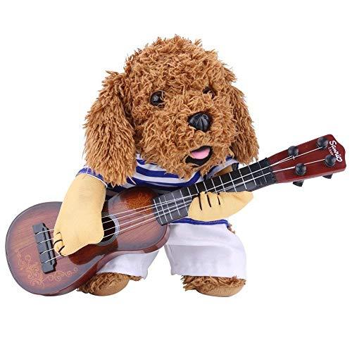 Pet Kostüm Hund Katze Kostüm für Frauen/Herren Funny Gitarristen Stil Kostüm Pet Anzug in Premium Baumwolle, M