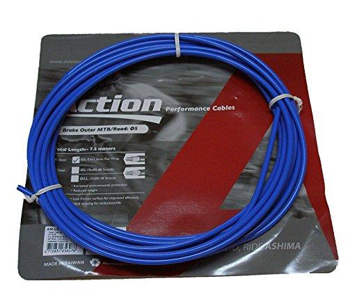 ONOGAL Funda Color AZUL para Cable de Freno de Bicicleta 7.5 metros ASHIMA MTB Road 3509