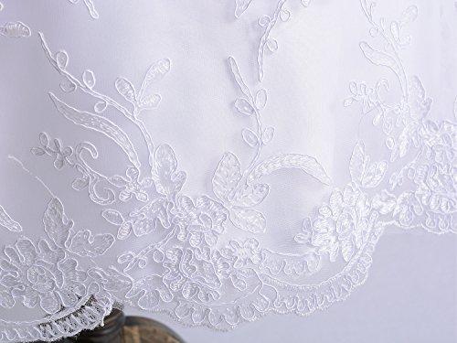 Cinda Baby Spitze Taufkleid Taufe Kleid und Mütze Weiß 62-68 - 5