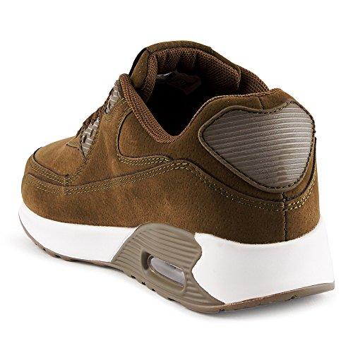 Schuhe Freizeitschuhe FiveSix Oliv Velours Schnürschuhe Sneaker Optik Sportschuhe W Unisex Damen Herren Low Dämpfung Laufschuhe Top SnrSqOTwx