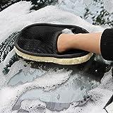 Design Auto Lavage Gants de Nettoyage Moteur Moto Gant de Toilette Brosse Vernis Rondelle Cire Moufle No Scratch et Lint Gratuit Réutilisable Détails Gants, Microfibre, Noir, Taille M