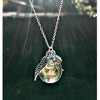 Sterlingsilber 925 kette EngelsFlügel Pusteblume anhänger Löwenzahn Halskette - Personalisierte schmuck geschenk Schutzengel Sympathie geschenk Für Frauen und Mädchen Muttertag