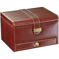 Dulwich Designs Heritage Brown 3 Pc Watch Box