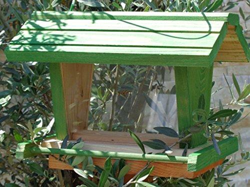 Vogelfutterhaus BTV-X-VOFU2G-gras001 XXL PREMIUM Vogelhaus mit großem 3D-SILO, grasgrün Marien Käfer grün PURE GREEN Garten grüner Nistkasten Insekten, KOMPLETT MIT 2 GROSSEN SICHTSCHEIBEN FÜR FUTTERVORRAT, als Ergänzung zum Meisenkasten oder zum Insektenhotel, Vogelfutterhaus, für Vögel, zum Hängen und zum Aufstellen - 2
