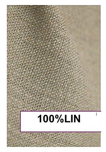 Bng, lino grezzo da tappezziere, 100% puro lino pesante francese, neutro, 3 m