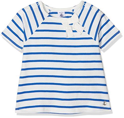 Petit Bateau Baby-Mädchen T-Shirt Tee MC 43198, Mehrfarbig (Marshmallow/Perse 83) 80 (Herstellergröße: 12m/74cm) -