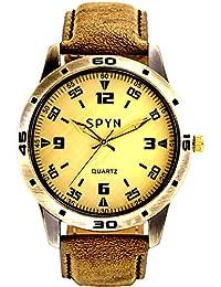 SPYN Analogue Gold Dial Men's Watch -sldigitnew