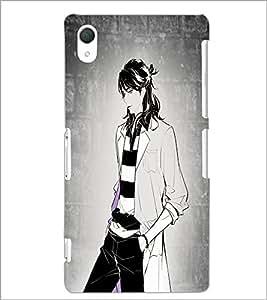PrintDhaba Tom Girl D-6070 Back Case Cover for SONY XPERIA Z2 (Multi-Coloured)