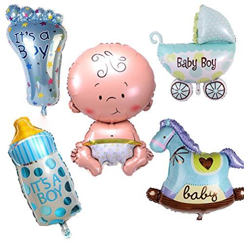 che Jungen Mädchen Urlaub Dekorationen Folienballons Kinderwagen Helium Balls Birthday Party Supplies, Junge ()