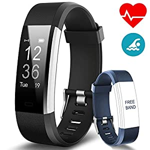 BANLVS Activity Bracelet, Smart Bracelet with 14 Sport Modes, GPS Heart Rate Monitor Heart Rate Sleep Monitor, Activity Monitor, Waterproof IP67 Smart Watch for iOS and Android
