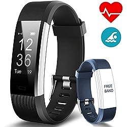 BANLVS Pulsera Actividad, Pulsera Inteligente con 14 Modos de Deporte, GPS Pulsómetro Monitor de Ritmo Cardíaco Sueño, Monitor de Actividad,Impermeable IP67 Reloj Inteligente para iOS y Android