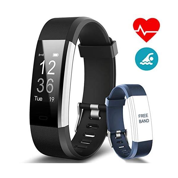 BANLVS Pulsera Actividad, Pulsera Inteligente con 14 Modos de Deporte, GPS Pulsómetro Monitor de Ritmo Cardíaco Sueño… 1