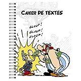 Clairefontaine 812868C - Un Cahier de textes à spirale Astérix 17x22cm 164 pages grands carreaux, 12 pages BD d'Astérix inclus, visuel aléatoire