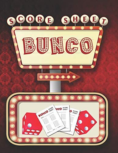 Bunco Score Sheets: 100 Score Keeping for Bunco Lovers