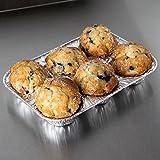 muffin Pans–usa e getta tazze foglio di alluminio, cupcake Pans, misura standard, confezione da 6. Favorite muffin per vestiti da forno cupcake, muffin e mini pies