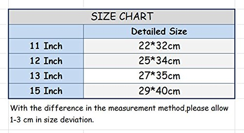 YiJee Tela Custodia Borsa Ventiquattrore Cartella Involucro Sleeve Case per Computer Portatile / Macbook Pro Air da 11-15 Pollici 15 Inch Rose