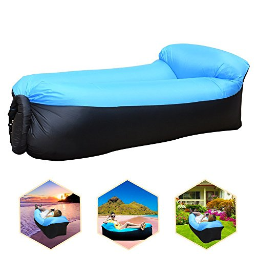 Tendawee giunto bar gonfiabile sofa con cuscino integrato, impermeabile gonfiabile sitzsack air sofa gonfiabile, outdoor gonfiabile couch luftsofa per camping, parco, spiaggia, backyard, blu