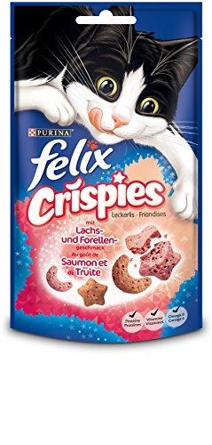 Felix Crispies Katzensnack Lachs und Forellengeschmack, 45g