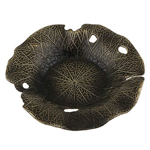 Gold Leaf Teller (LOVIVER Lotus Leaf Shape ~ Zink Legierung Teetasse Coaster Cup Mat Für Kung Fu Tee - Bronze)