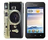 gada - Handyhülle für Huawei Ascend Y330 - Hochwertiges TPU Case Cover Schutzhülle im stylischen Design - Fotoapparat Kamera