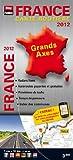 France Grands Axes 2012 - Carte Routière avec Radars Fixes, Temps de Parcours, Prévisions de Trafic...