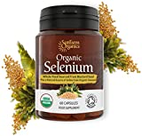 Organic Selenium 200mcg plus Iodine and Silica - Selenium contributes to normal Thyroid and Immune function - 2 Month Supply - Whole Food Supplement - Certified Organic by Soil Association