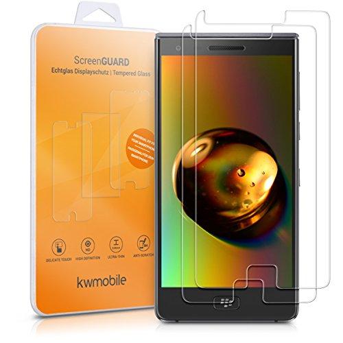 kwmobile 2X BlackBerry Motion Glasfolie - Handy Schutzglas Folie für BlackBerry Motion (Kleiner als Bildschirm)