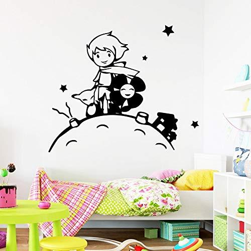 hllhpc Schöne Der Kleine Prinz Wandkunst Aufkleber Dekoration Wallsticker Decor Wohnzimmer Schlafzimmer Dekor Kinderzimmer Baby Mura 43 * 50 cm