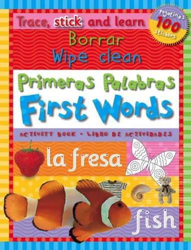 Trace, Stick Learn Borrar Primeras Palabras/Wipe Clean First Words [With StickersWith Marker] por Helen Parker