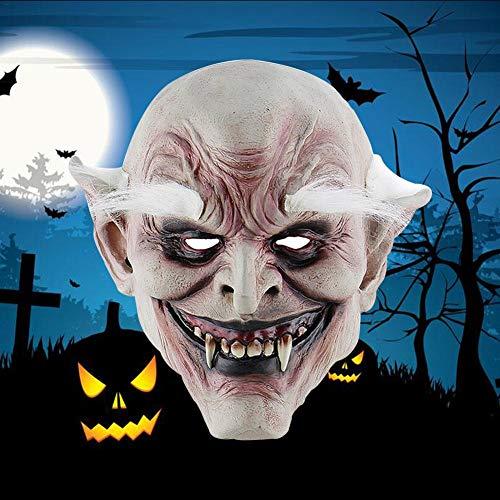 Vampir Mörder Kostüm - White Eyebrow Alter Dämon Halloween Horror Teufelsmaske Vampire Haunted House Böser Mörder Kostüm Für Halloween