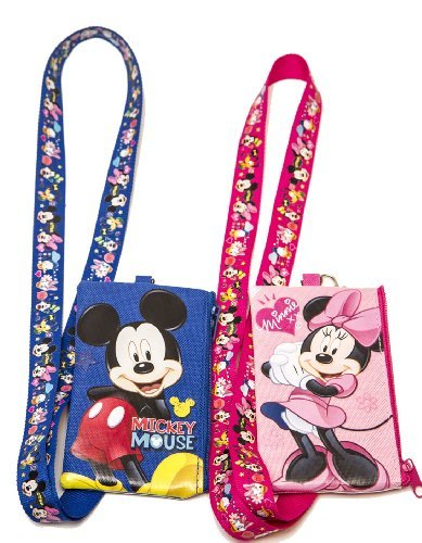 Disney Set of 2 Mickey and Minnie Mouse Lanyards with Detachable Coin Purse by n/a by LICENSED DISNEY PRODUCT