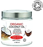 Aceite Ecológico de Nuez de Coco 500 ml Mejor Hidratante Rostro Cuerpo y Pelo, 500 ml