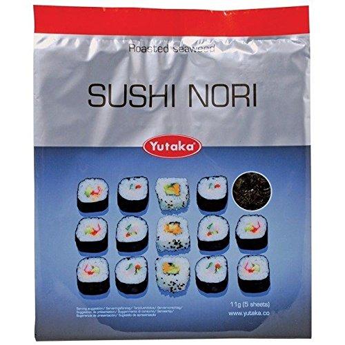Set de 5 feuilles d'algues - pour rouleaux de sushi japonais (pack de 2)