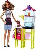 Barbie- Playset Toelettatrice, con Cagnolino, Tavolo per la Toelettatura e Accessori, Multicolore, FJB31