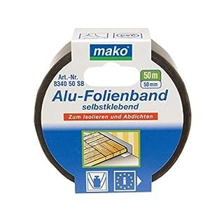 Mako Aluband Aluminiumband Klebeband alubedampft 50mm x 50m