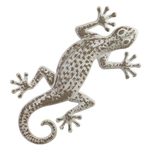 42cm envejecido Metal Lagarto/gecko de pared de jardín adorno