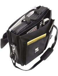 Wedo Elegance 0585301 Serviette porte-documents à bandoulière avec sacoche pour Ordinateur portable Noir