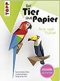 Tier aus Papier (Bastel-Set) - Tukan & Ara: Ausschneiden, falten, zusammenkleben - fertig ist das Tier!