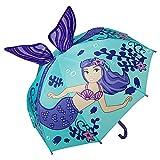 VON LILIENFELD Regenschirm Kind Kinderschirm Junge Mädchen Motiv Meerjungfrau Nixe (bis ca. 8 Jahre)