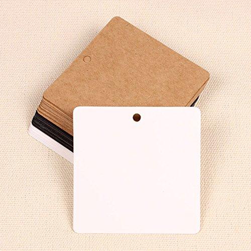 tz Gift Paper Label Preis Hang Tags Karten Hochzeitsfestbevorzugung (Weiß) ()