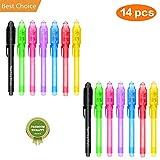 Sparta's Store 14×Bolígrafo de Tinta Invisible,lápiz espía con rotulador mágico de luz UV,Lápiz Espía Bolígrafos de Mensaje Secreto con luz UV para Niños y Fiestas!