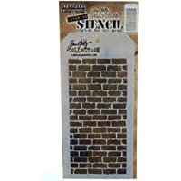 """Stampers Anonymous Tim Holtz Layered Stencil 4.125""""X8.5""""-Bricked"""