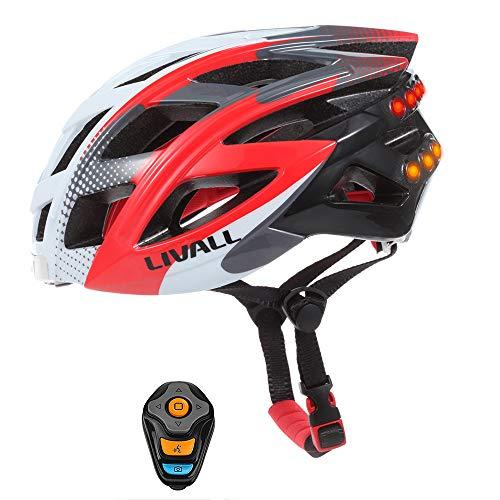 NBZH Smart Bike Bluetooth Casco con Manillar Inalámbrico Control Remoto-Luz Trasera Señales...