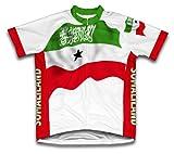 Drapeau Somaliland à manches courtes Maillot de cyclisme pour femme Large Blanc - blanc