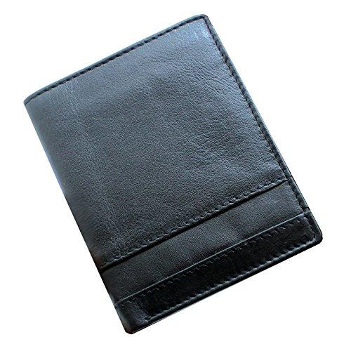 Starhide NA14 - Portafogli da uomo in vera pelle, con porta tessere e tasca per documento di riconoscimento