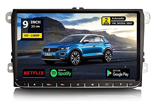 "GÜMÜ- PX3PROAV05- Autoradio GPS Navigation Compatible Volkswagen Android 8.1 + Écran Tactile DE 9""+WiFi + Bluetooth + USB + Mémoire Interne 16GB, Golf, Passat, touran, tiguan"