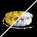 (1,5EUR/1m) 20m LED Lichtschlauch warmweiß und kaltweiß schaltbar 360 LEDs 8 Progr