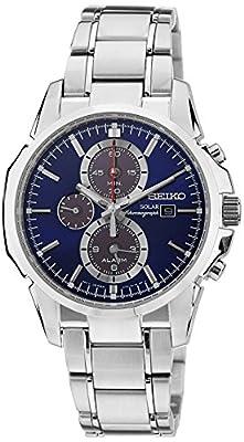 Seiko SSC085P1 - Reloj de automático para hombre, con correa de acero inoxidable, color plateado