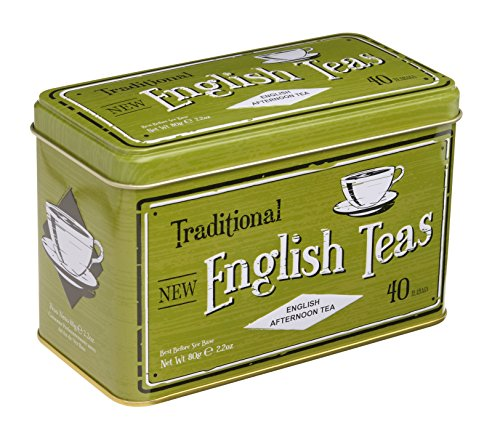 "English Tea, ""Vintage Selection Afternoon Tea"" - Traditional English Afternoon Tea in Vintage Caddy - RS20"